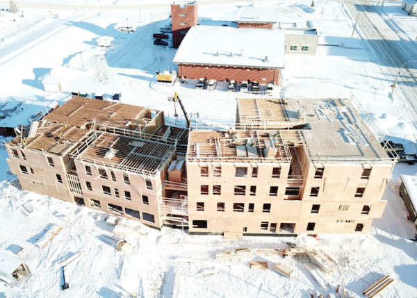 Framing progress Passive House Fort St. John.png