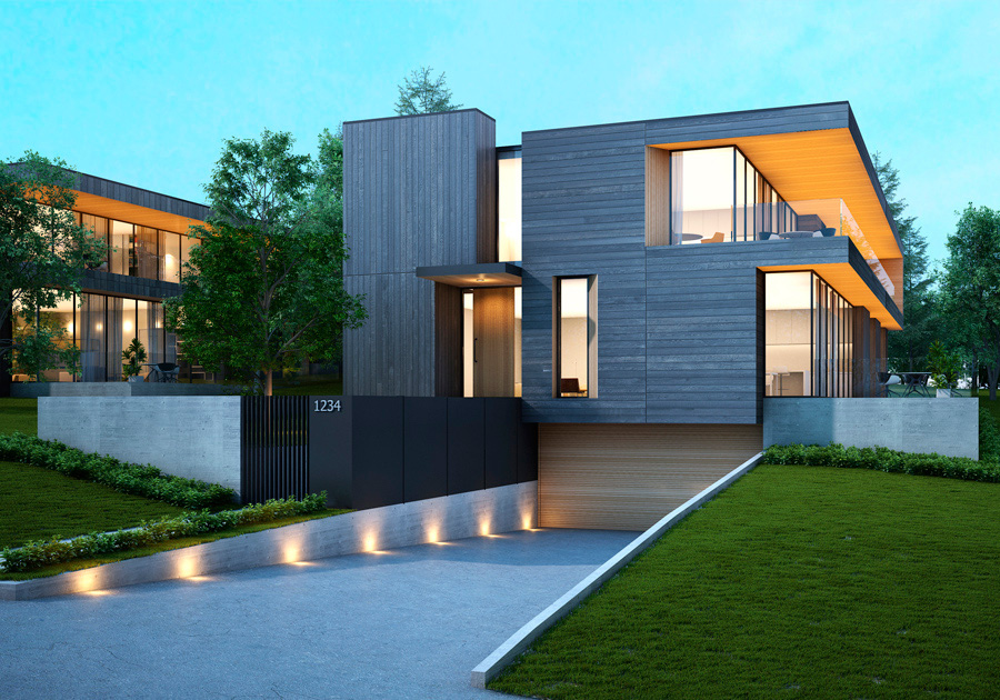 Custom Passive House Duplex, Surrey